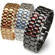 楽天スーパーSALE メンズ デジタル 腕時計 LEDブレスレット メール便送料無料 あす楽