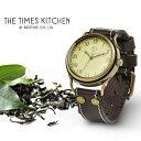 【メール便送料無料】メンズ 腕時計 タイムズキッチン イングリッシュティー 日本製ムーブメント ハンドメイド ウォッチ アンティーク仕上げ 本革ベルト