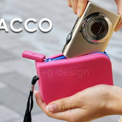 カメラケースシリコンジッパーポーチPACCOパッコデジカメiPod収納小物入れケース
