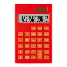アスカ C1237R カラー電卓ポケット レッド