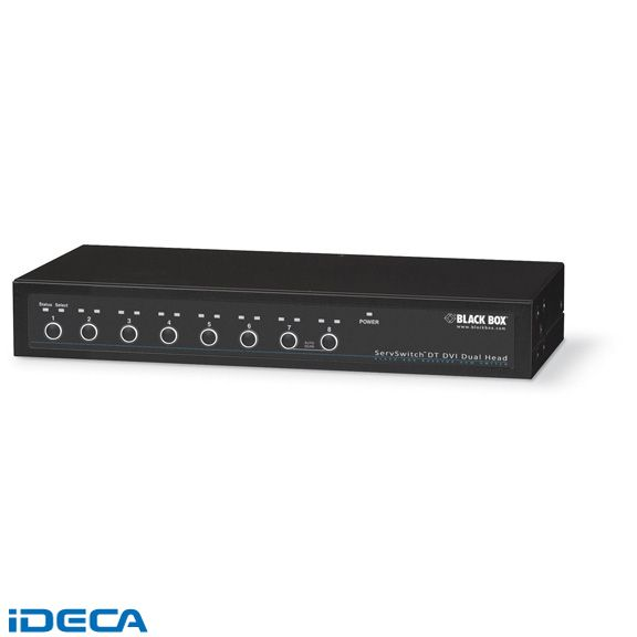 【キャンセル不可】GU94101 サーブスイッチDTデュアルヘッドDVI USB 8ポート:iDECA