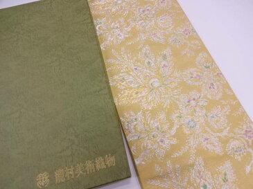 【IDN】 龍村美術織物 たつむら製 欧華更紗文袋帯(未仕立て)【q新品】【着】