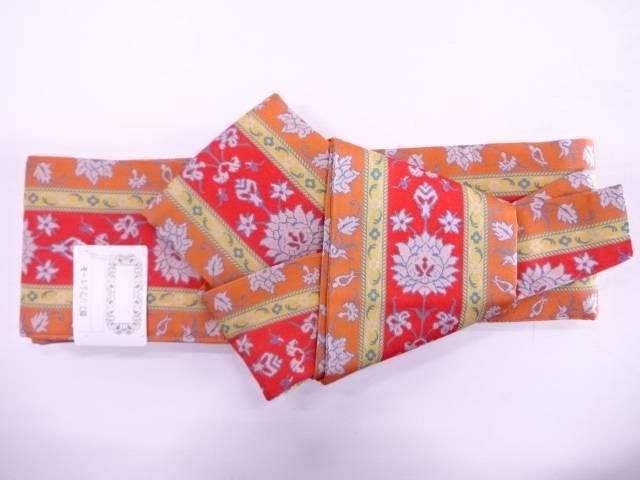 【IDN】 龍村美術織物製 モール手花卉文 金モール一房男物くるぴた角帯【q新品】【着】:アイディーネット