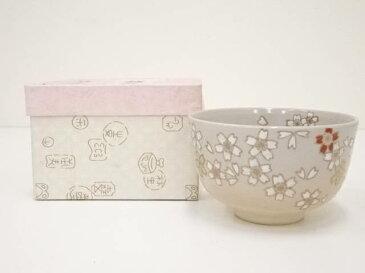 【IDN】 京焼 祥雲造 金彩色絵桜茶碗【中古】【道】