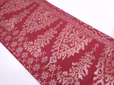 【IDN】 抽象模様織出し袋帯【アンティーク】【中古】【着】