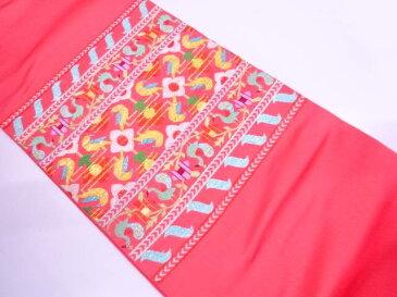 【IDN】 たつむら製 花鳥モール袋帯(未仕立て)【新品】【着】
