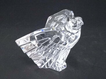 【IDnet】 STEUBEN スチューベン Cut Eagle ガラス鷲置物【中古】【道】