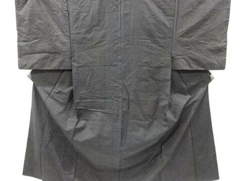 【IDnet】 抽象模様織り出し手織り紬男物着物アンサンブル【アンティーク】【中古】【着】