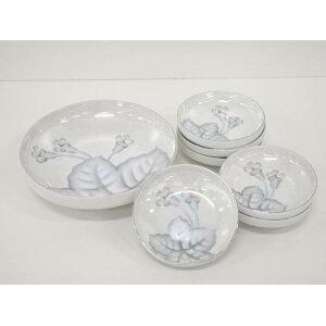 [IDnet] Set mit 5 Fuji-Keramiktöpfen mit Blumenmuster und Typenschild [Gebraucht] [Straße]