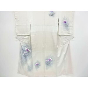 [IDnet] Hand-painted flower pattern visiting clothes [Recycle] [Used] [Kimono]