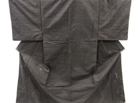 【IDnet】 手織り真綿紬男物着物アンサンブル【アンティーク】【中古】【着】