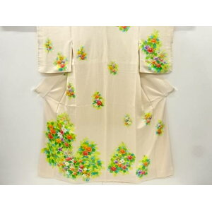 [IDnet] Hand-painted flower pattern kimono [Antique] [Used] [Kimono]