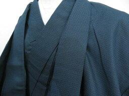 【IDnet】 男物紬 アンサンブル 亀甲文 着物【リサイクル】【中古】【着】