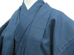 【IDnet】 男物紬 アンサンブル 亀甲絣文 着物【リサイクル】【中古】【着】