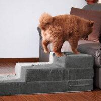 【犬】【階段】ポメ4.3kgの獅子丸くんはアッシュグレーを使用