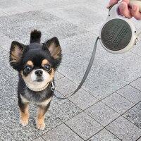 【犬リード】iDog3MFREEWALK【伸縮リード】レザー【あす楽対応翌日配送】【リールリード軽量】【犬のリード犬用リード】【超小型犬子犬小型犬中型犬】【idog】