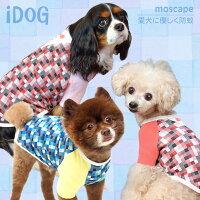 iDogアイドッグジャケット風ブロックチェックTシャツmoscape。