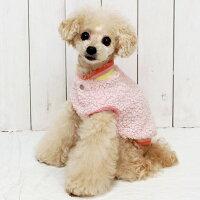 トイプー2.3kgミミちゃんはピンクSを着用