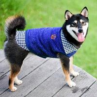 柴犬8.3kg凪ちゃんはブルーXXLを着用