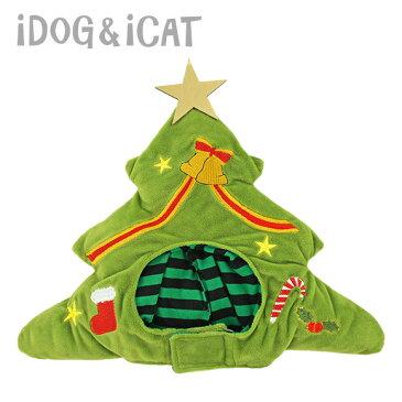 【おもちゃはカゴに入れてね】【 耳 汚れ防止 クリスマス 】iDog 変身かぶりものスヌード クリスマスツリー アイドッグ【 かぶりもの 帽子 食事 散歩 犬の服 アイドッグ ドッグウェア ペットウェア 犬 服 猫服 】【 あす楽 翌日配送 】