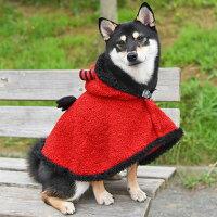 柴犬8.3kgの凪ちゃんはレッドのXXLを着用