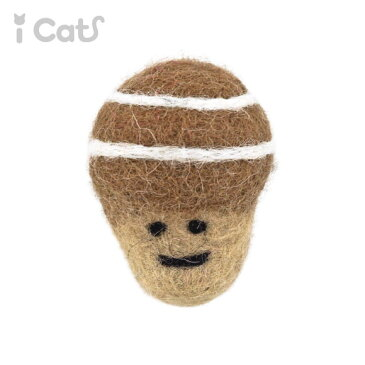 【 猫 おもちゃ 】iCaTOY コロコロフェルトTOY どんぐり 【 あす楽 翌日配送 】【 猫用おもちゃ ペットグッズ キティ ねこ ネコ 子猫 用品 ボール プチプラおもちゃ 猫のおもちゃ フェルト 】