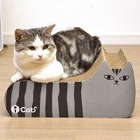 【猫】【つめとぎ】iCatアイキャットオリジナルつめとぎしまネコ。まずは試しにとぎとぎ。