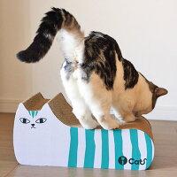 【猫】【つめとぎ】iCatアイキャットオリジナルつめとぎしまネコ。次第に本気でとぎとぎ。