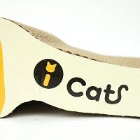【猫】【つめとぎ】iCatアイキャットオリジナルつめとぎしまネコロング。ダンボールのアップ