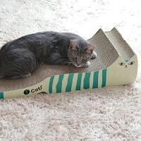 【猫】【つめとぎ】iCatアイキャットオリジナルつめとぎしまネコロング。小珀ちゃんもつめとぎ参戦。