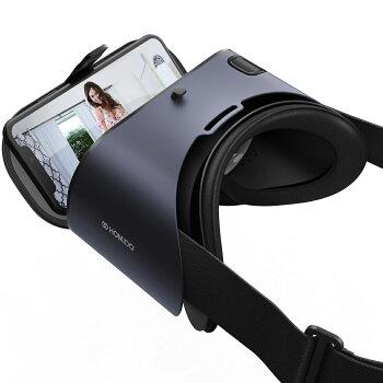 VRゴーグルポイント+5倍高精細平凸レンズDMMVR動画対応フランス生れVR/XRandroidiPhone12・11ProMAX/4〜6.6インチスマホバーチャル3Dvr眼鏡OK連休趣味おうち時間ギフトプレゼントラッピング対応♪ポイント消化あす楽HOMiDOPRIME