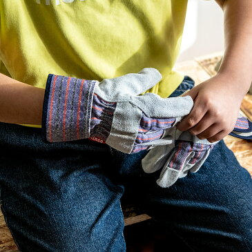 Kinco Kids Youth's Split Cowhide Leather Palm 子供用グローブ 手袋 革 アウトドア キッズ