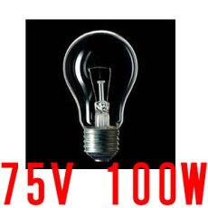 白熱電球クリアE26口金75V100W【100個入り】