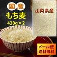 【メール便送料無料】国産もち麦 420g×2(840g) ※宅配便選択時送料追加※|大麦 ごはん 麦ご飯 胆汁酸ダイエット|