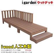 ウッドデッキ/木製デッキ/【送料無料】アイウッドデッキ7点セットナチュラル