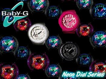 ベビーGBaby-GBGA-131-7BJF【国内正規品】CASIOカシオ内臓のブラックライトに反応して発行する「ネオンダイヤルシリーズ」ホワイト腕時計【楽ギフ_