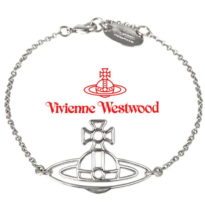 ヴィヴィアンウエストウッド ブレスレット Vivienne Westwood ヴィヴィアン シンラインフラットオーブブレスレット シルバー 61020015-W003(BBL156/2) 【あす楽】【送料無料】
