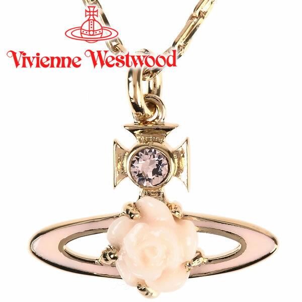 ヴィヴィアンウエストウッド ネックレス Vivienne Westwood ヴィヴィアン ローズバスレリーフペンダント ピーチ