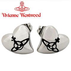 ヴィヴィアンウエストウッド ピアス Vivienne Westwood ヴィヴィアン ハートスタッドピアス シルバー×ブラック 【02P07Nov15】