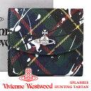 ヴィヴィアンウエストウッド 財布 ヴィヴィアン Vivienne Westwood レディース メンズ チェック 二つ折り財布 51150003 SPLASHES HUNTING TARTAN 【あす楽】【送料無料】