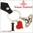 【訳あり■箱破損】 ヴィヴィアンウエストウッド Vivienne Westwood キーホルダー キーリング ブラック 321358 BLACK 【02P03Dec16】