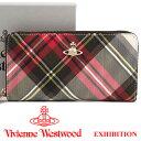 ヴィヴィアンウエストウッド 財布 ヴィヴィアン Vivienne Westwood ラウンドファスナー長財布 レディース メンズ チェック 51050023 E...