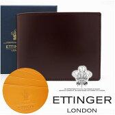 エッティンガー 財布 ETTINGER 二つ折り財布 メンズ ナッツ 141JR NUT 【あす楽】【送料無料】【02P03Dec16】