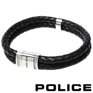ポリス ブレスレット レザーブレスレット メンズ POLICE ROADSTER 24652BLB01 【あす楽】【送料無料】
