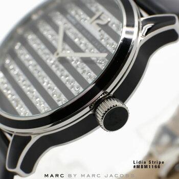 マークジェイコブス時計MARCJACOBS腕時計MBM1166LidiaStripeリディアストライプブラック/シルバーストーン文字盤【】【日本一セール】【RCP】【_腕時計】