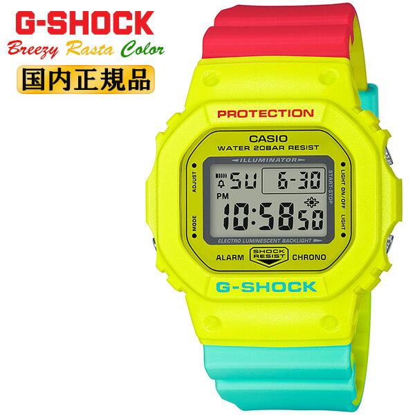 腕時計, メンズ腕時計  G ORIGIN DW-5600CMA-9JF CASIO G-SHOCK Breezy Rasta Color