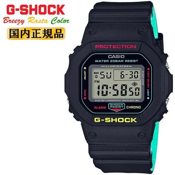 腕時計, メンズ腕時計  G ORIGIN DW-5600CMB-1JF CASIO G-SHOCK Breezy Rasta Color