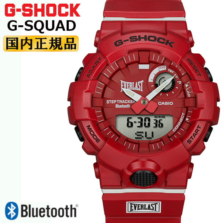腕時計, メンズ腕時計  G GBA-800EL-4AJR CASIO G-SHOCK G-SQUAD EVERLAST Bluetooth