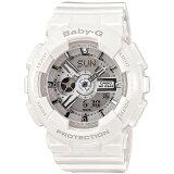 BABY-G ベビーG カシオ CASIO BA-110-7A3JF 歯車をイメージしたパーツや立体的な文字板が人気のビックフェイスG-SHOCKを小型化! ホワイト  レディース 腕時計 (BA1107A3JF) 【あす楽】