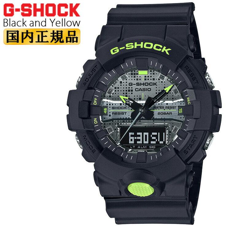 腕時計, メンズ腕時計  G GA-800DC-1AJF CASIO G-SHOCK Black and Yellow Series GA800DC1AJF